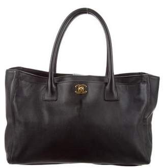 Chanel Leather Cerf Tote Black Leather Cerf Tote