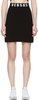 Versus Black Logo Miniskirt