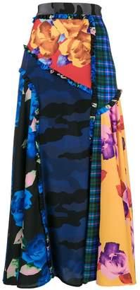MSGM patchwork printed skirt