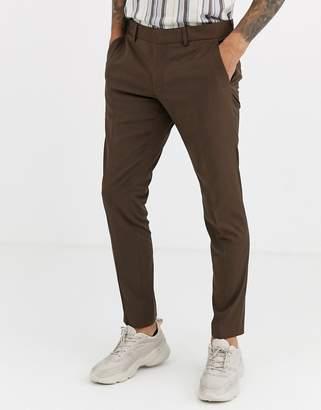 Esprit slim fit suit trouser in tan