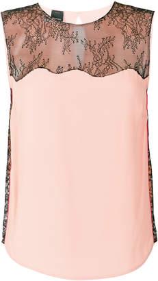 Pinko lace insert sleeveless top