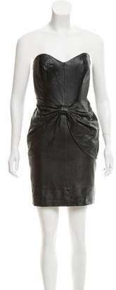 Mark & James by Badgley Mischka by Badgley Mischka Leather Strapless Dress