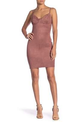 TOV Dynamic Diva Suede Bustier Bodycon Dress