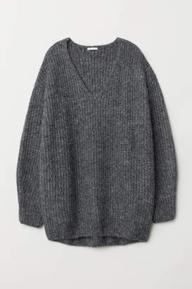 H&M Rib-knit Sweater - Gray
