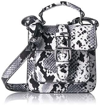 Armani Jeans Python Print Buckled Sling Bag