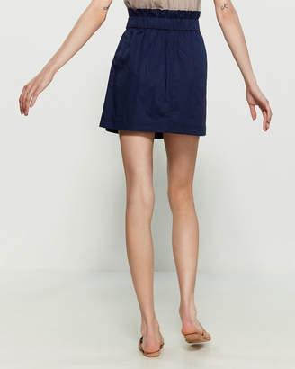 Laundry by Shelli Segal Poplin Paperbag Mini Skirt