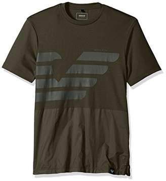 Armani Jeans Men's Mixed Media Tonal Eagle Tshirt