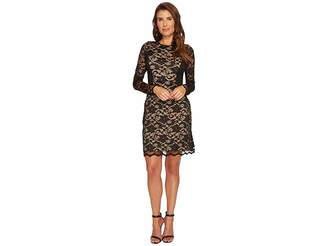 Karen Kane Lace Curve Contrast Inset Dress Women's Dress