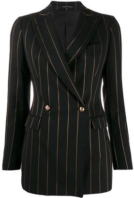 Tagliatore longline pinstripe suit jacket