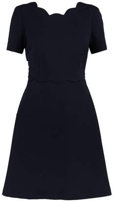 Claudie Pierlot Scalloped Open-Back Dress