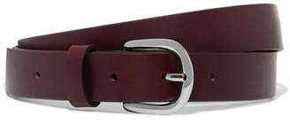 Isabel Marant Zap Leather Belt - Burgundy