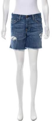 Current/Elliott Mid-Rise Distressed Shorts