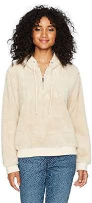 Obey Women's Dolores Half Zip Pullover Hoodie