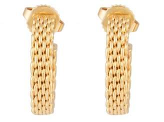 Tiffany & Co. 18K Yellow Gold Mesh Earrings