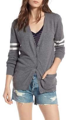 Treasure & Bond Stripe Sleeve Cardigan