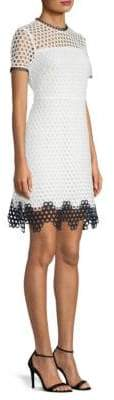 Shoshanna Carter Mesh Sheath Dress