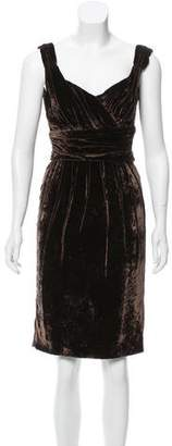 Dolce & Gabbana Draped Velvet Dress