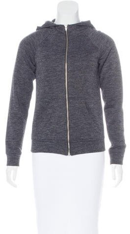Alexander Wang T by Alexander Wang Zip-Up Hooded Sweatshirt