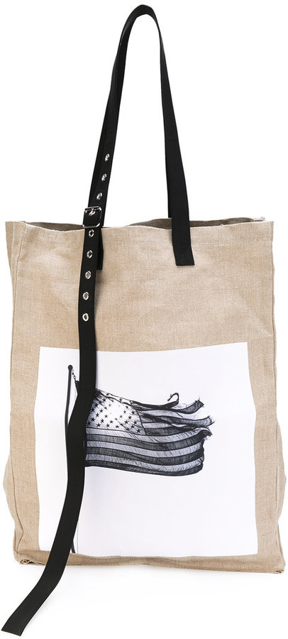 Raf Simons Raf Simons x Robert Mapplethorpe woven oversized tote bag
