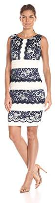 Jax Women's Lace and Pleat Dress $103.69 thestylecure.com