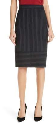 BOSS Vunka Mix Pinstripe Suit Skirt