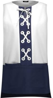 Raoul Ember Lace-Up Cotton-Blend Top
