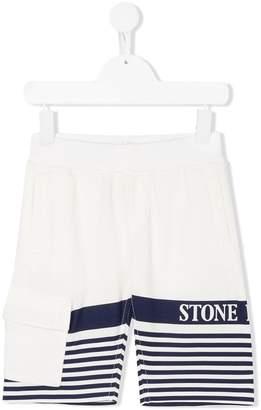 Stone Island Junior printed bermuda shorts