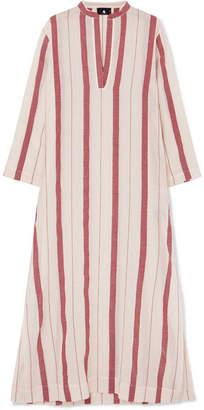 SU Paris - Kiku Striped Cotton-gauze Kaftan - Ecru