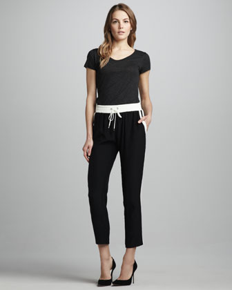 Parker Silk Drawstring Pants