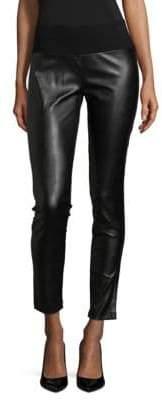 INC International Concepts Faux Leather Skinny Ponte Pants