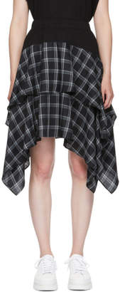 Opening Ceremony Black Plaid Mix Skirt