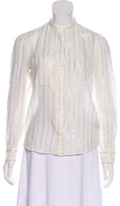 Etoile Isabel Marant Long Sleeve V-Neck Blouse