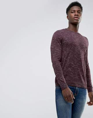 Jack and Jones Originals Crew Neck Knit In Melange