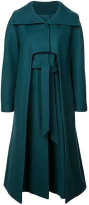 Alberta Ferretti single-breasted midi coat