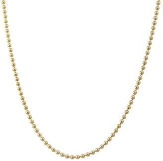Heather B Moore 20 Inch 1.8mm Ball Chain Necklace - Yellow Gold