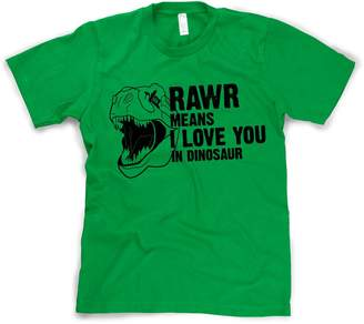 Crazy Dog T-shirts Crazy Dog Tshirts Youth Rawr Means I Love You in Dinosaur T Shirt - Funny Tee for Dino Fans M