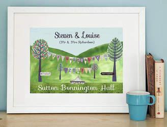Helena Tyce Designs Personalised Wedding Print