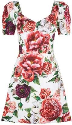 Dolce & Gabbana Brocade Peony Dress