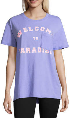 Flirtitude Welcome to Paradise Oversized Tee - Juniors