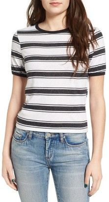 Women's Volcom Awl Rights Stripe Tee $48 thestylecure.com