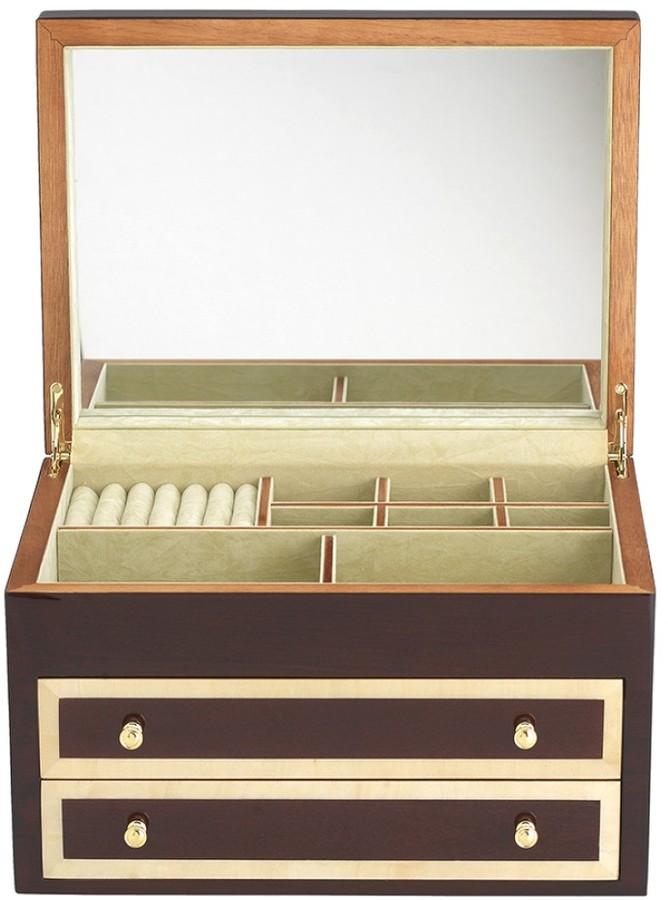 Williams-Sonoma Mahogany Jewelry Box with Inlay