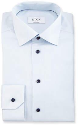 Eton Slim-Fit Textured-Stripe Dress Shirt, Light Blue $275 thestylecure.com