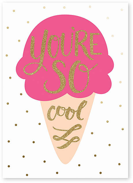 'You're So Cool' Friendship Greeting Card - Set of Six