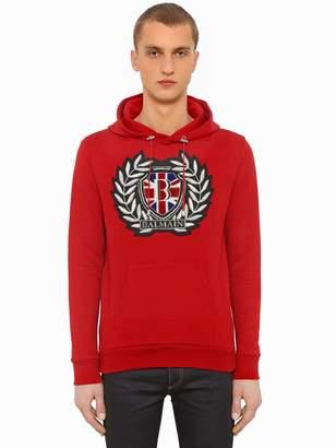 Balmain Patch Logo Jersey Sweatshirt Hoodie