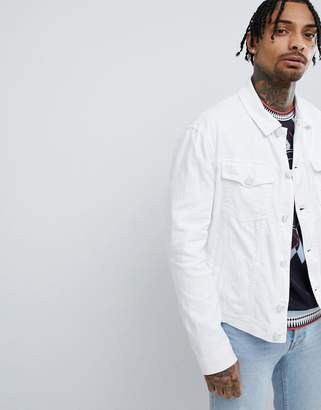 Versace Denim Jacket In White