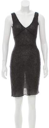 Miu Miu Sleeveless Mohair Dress
