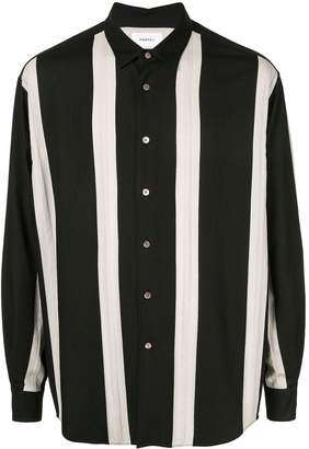 Ports V vertical stripe button-up shirt