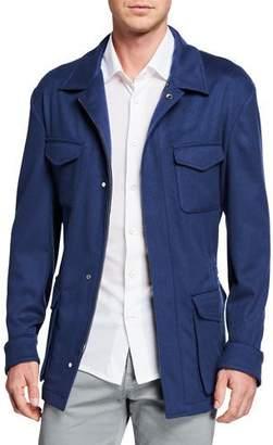 Kiton Men's Cashmere Safari Jacket