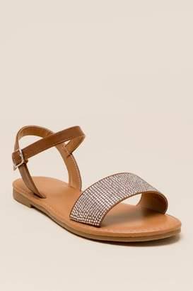 francesca's Dottie Embelllished Gladiator Sandal - Cognac