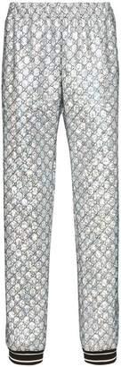 Gucci laminated sparkling GG sweatpants